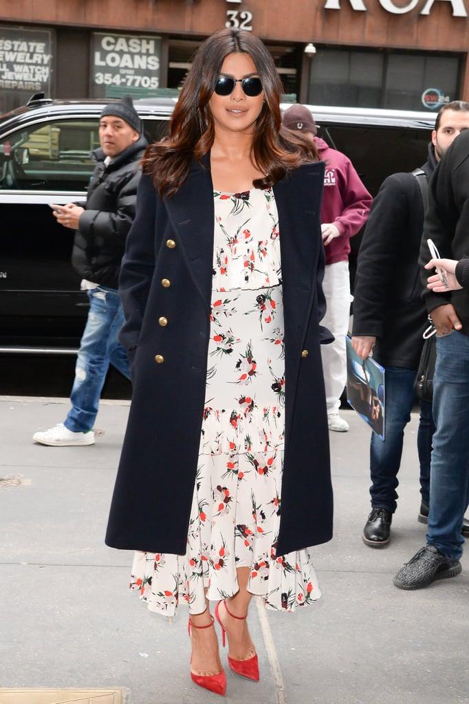 Priyanka Chopra Wearing Marni Dress to Good Morning America