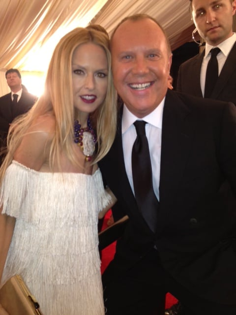 Designers Rachel Zoe and Michael Kors were all smiles for their big night on the town. Source: Twitter User RachelZoe