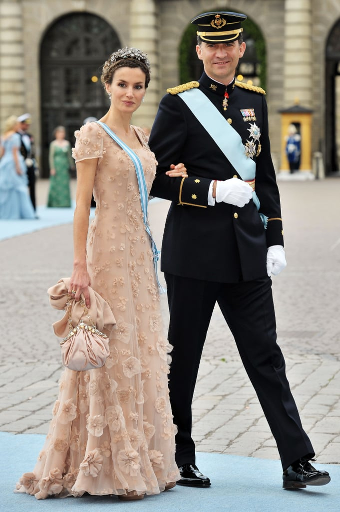 Felipe and Letizia looked every inch the royal couple when they arrived at Princess Victoria of Sweden's wedding in June 2010.