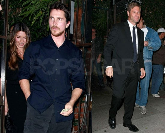Photos of Christian Bale and Aaron Eckhart at Dinner at Il Cielo