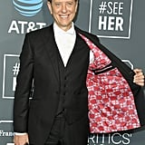 When He Flashed His Patriotic Suit Lining at the Critics' Choice Awards