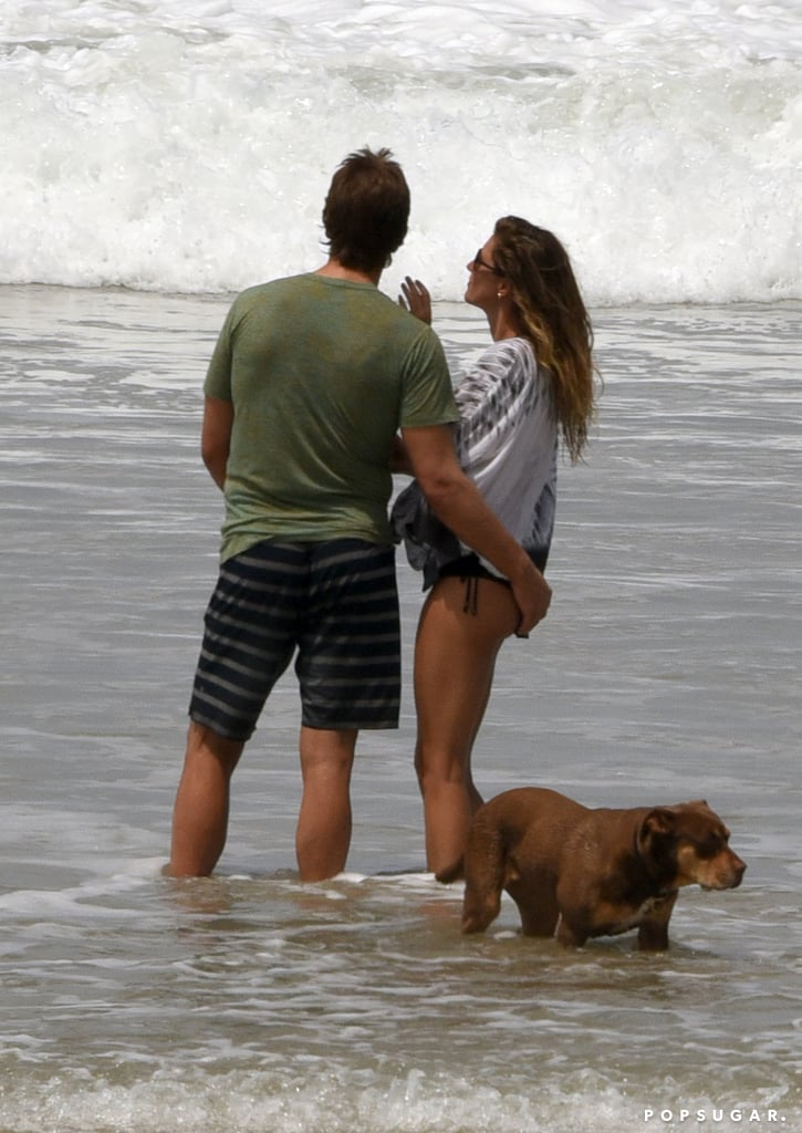 Tom Brady and Gisele Bundchen Kissing in Costa Rica 2016
