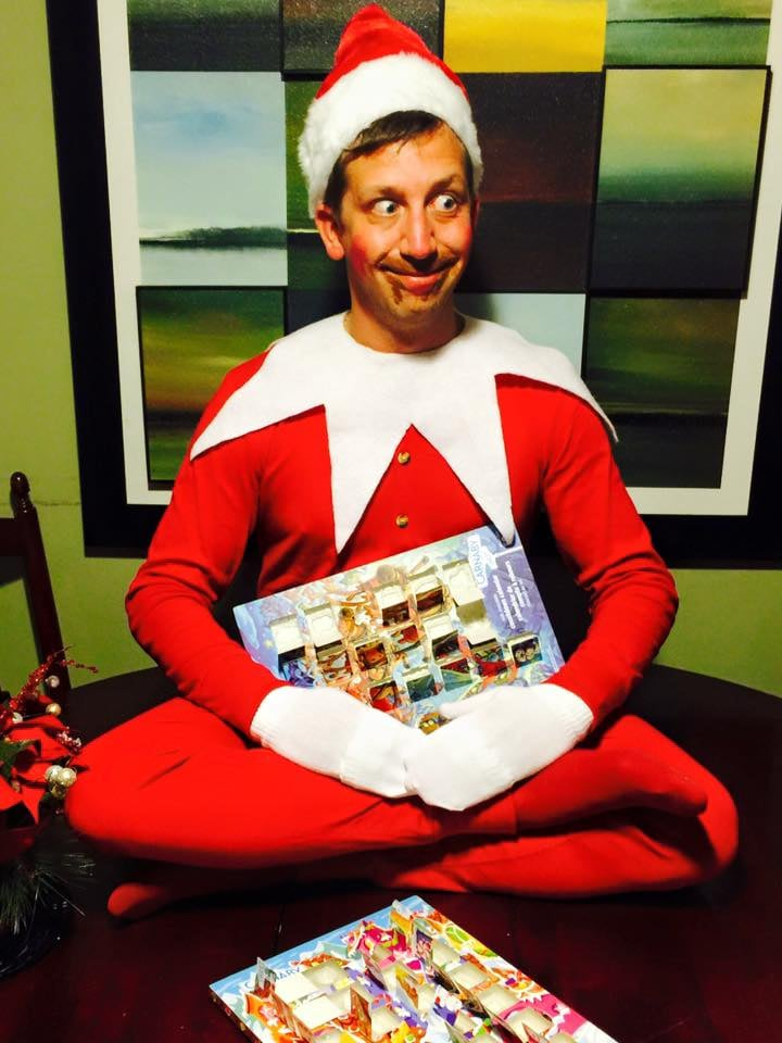 """Well, day one, and I am not sure about this 'Elf on the Shelf' thing. FLE ate the kids advent calendars, they will be devastated!"""