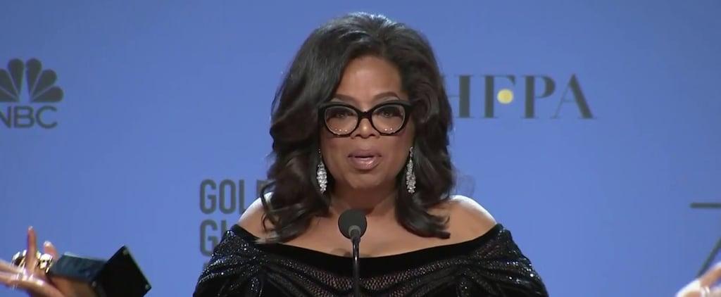 Oprah's Press Room Speech at the 2018 Golden Globes