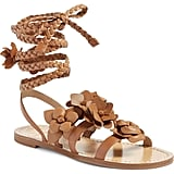 Tory Burch Blossom Gladiator Leather Sandal
