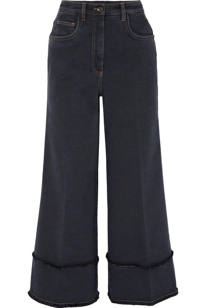 Miu Miu Cropped Frayed Jeans
