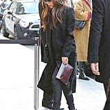 Victoria Beckham arrived at the Hotel Royal Monceau.