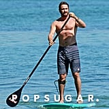 Gerard Butler Shirtless PDA With Girlfriend   Pictures
