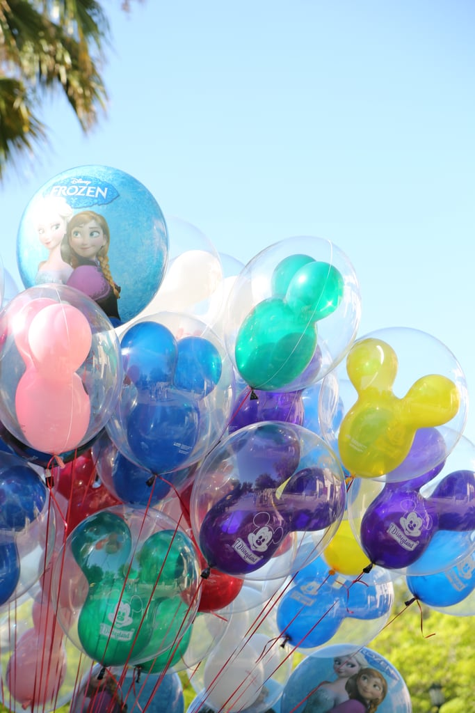 There are balloons everywhere.