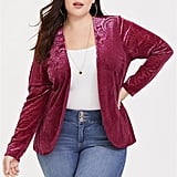 Torrid Red Burnout Velvet Blazer