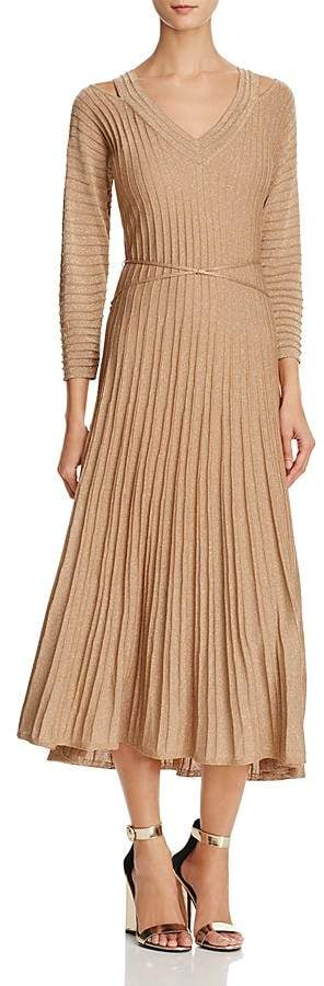 Nic+Zoe Shimmer Pleated Dress