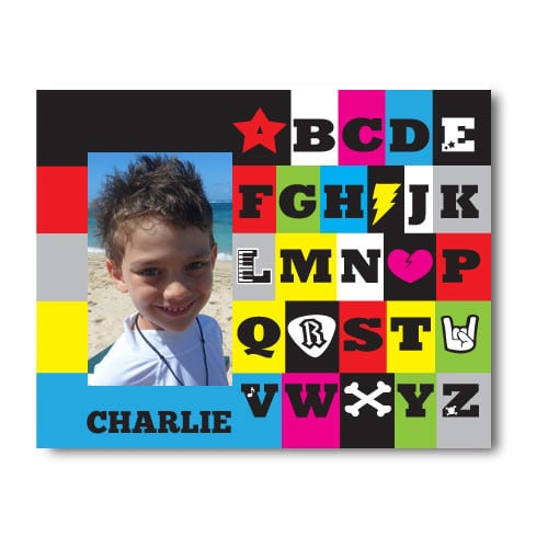 Showcase those priceless first memories in Psycho Baby's Rockin' ABCs Picture Frame ($34) — you can even have it personalized with your new addition's name.