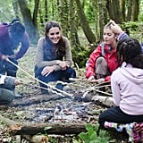 Kate Middleton hung out around the campfire with children from Expanding Horizons' primary school outdoor camp.