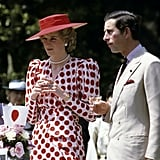 Charles and Diana made an official visit to Nijo Castle in Kyoto, Japan, in May 1986.