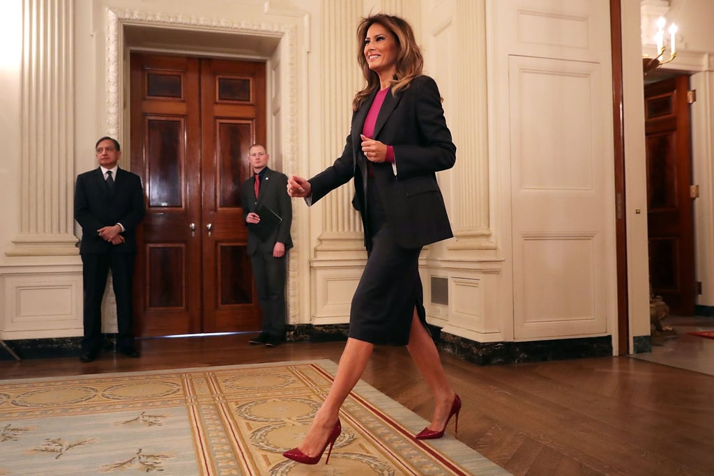 Melania Trump Calvin Klein Skirt Suit
