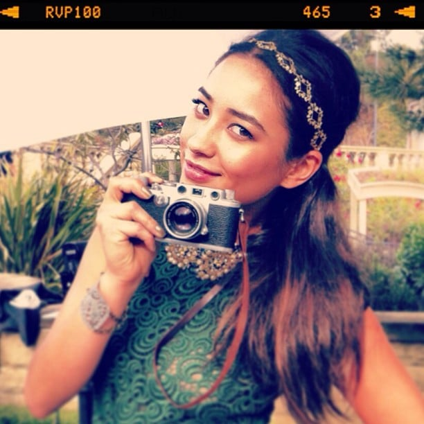 Shay Mitchell showed off a pretty pompadour and glitzy headband from her Teen Vogue cover shoot. Source: Instagram user shaym