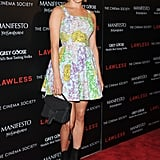 Chloe Sevigny wore a floral number to the screening of Lawless in NYC.