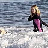 Rosie Huntington-Whiteley Brings Her Bikini and Best Friend to the Beach