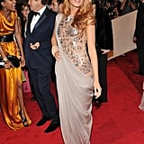 Blake Lively Goes Grecian in Gray and Nude Chanel For Met Gala