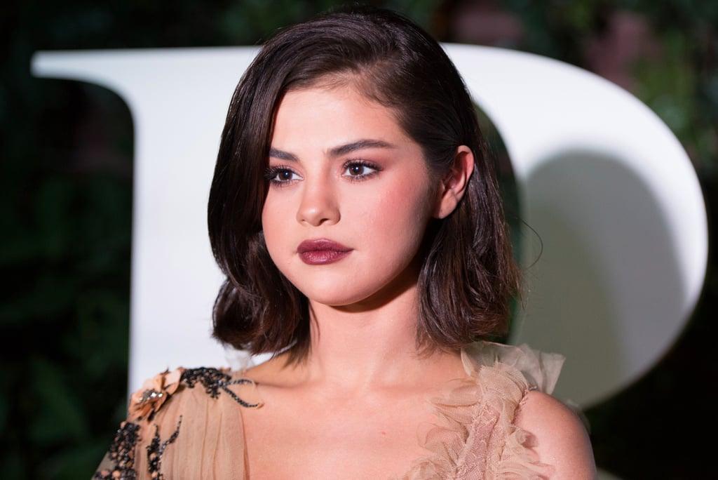 Selena Gomez Using Lip and Eye Masks