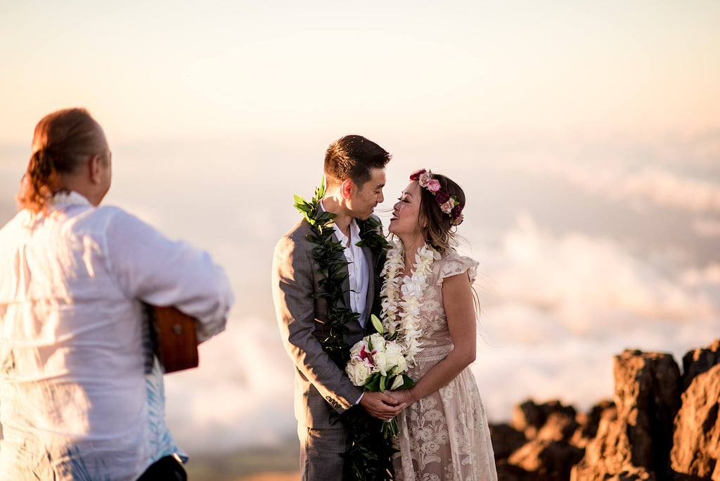 A Sunset Ceremony on a Volcano in Maui? Now That's an Epic Elopement