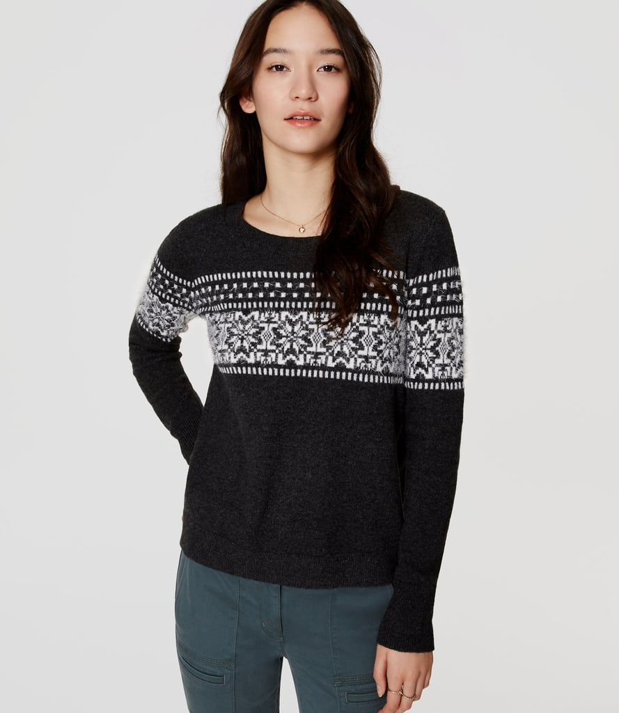 LOFT Snowflake Sweater ($60)