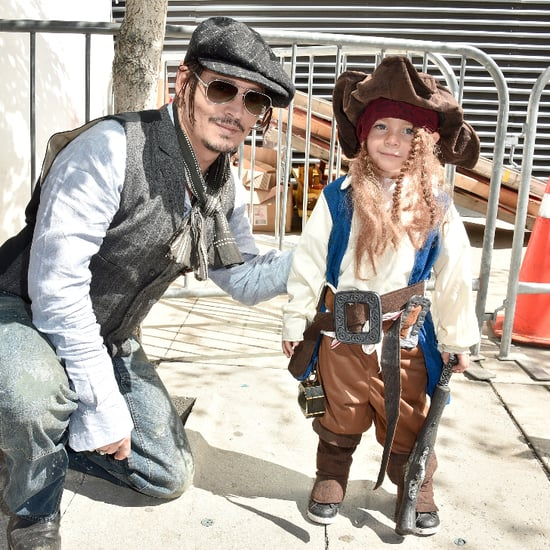 Johnny Depp Meets Mini Captain Jack Sparrow