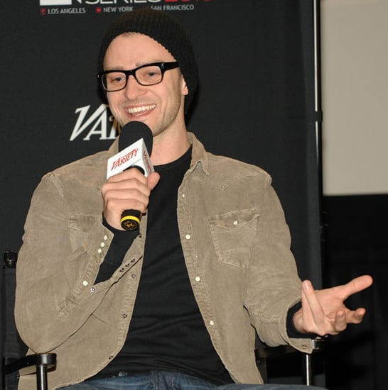 Pictures of Justin Timberlake at The Social Network Screening Series