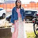Give a Pretty Dress Edge With a Denim Jacket