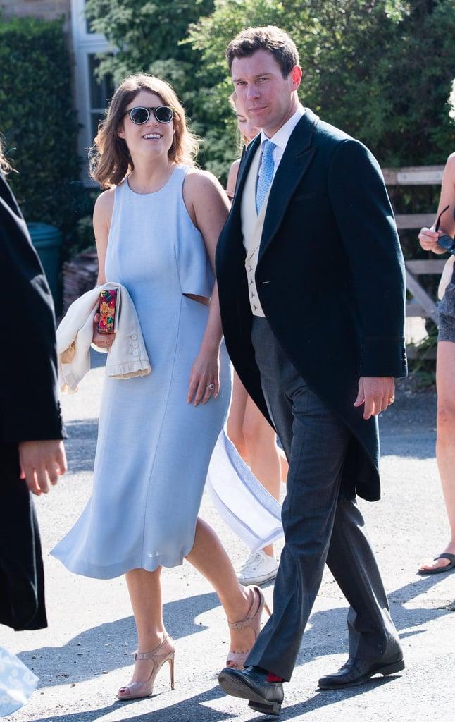 Princess Eugenie's Blue Wedding Guest Dress 2018