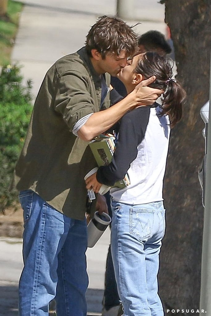 After almost six years together, Ashton Kutcher and Mila Kunis are still so in love. On Friday, the couple were spotted sharing a passionate kiss in LA. The two looked lost in their own little world as they locked lips before parting ways. While the pair have been in the spotlight for most of their lives, they are pretty private about their romance, making their latest outing even sweeter.  The two first met 20 years ago when they played love interests on That '70s Show, but they didn't start dating until 2012. They became engaged in February 2014 and eventually tied the knot in July 2015. They now share two children together: a daughter named Wyatt and a son named Dimitri. After all this time, it still warms our hearts that Kelso and Jackie are living happily ever after in real life. See more photos from Ashton and Mila's PDA-filled outing ahead.       Related:                                                                                                           These Photos of Ashton Kutcher and Mila Kunis Will Make Your Heart Burst