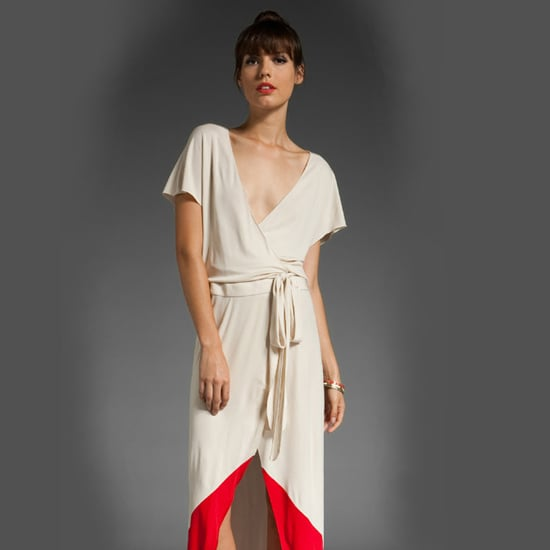 Haute Hippie Colorblock Wrap Dress, $595
