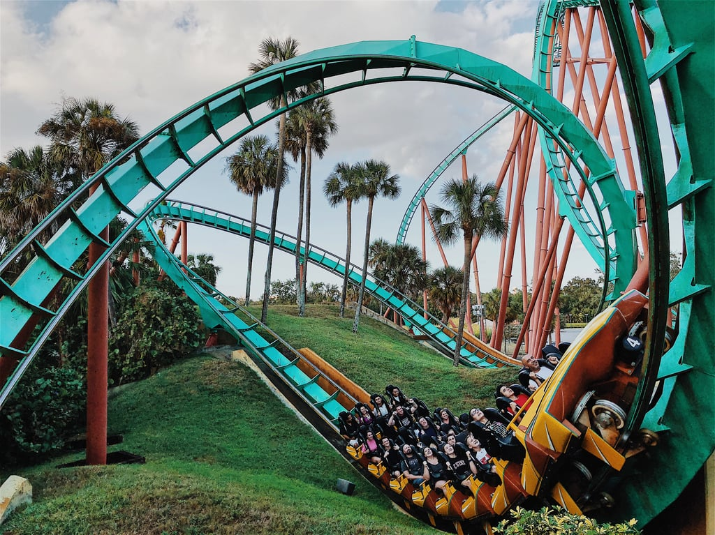 Virtual Tour of an Amusement Park Roller Coaster