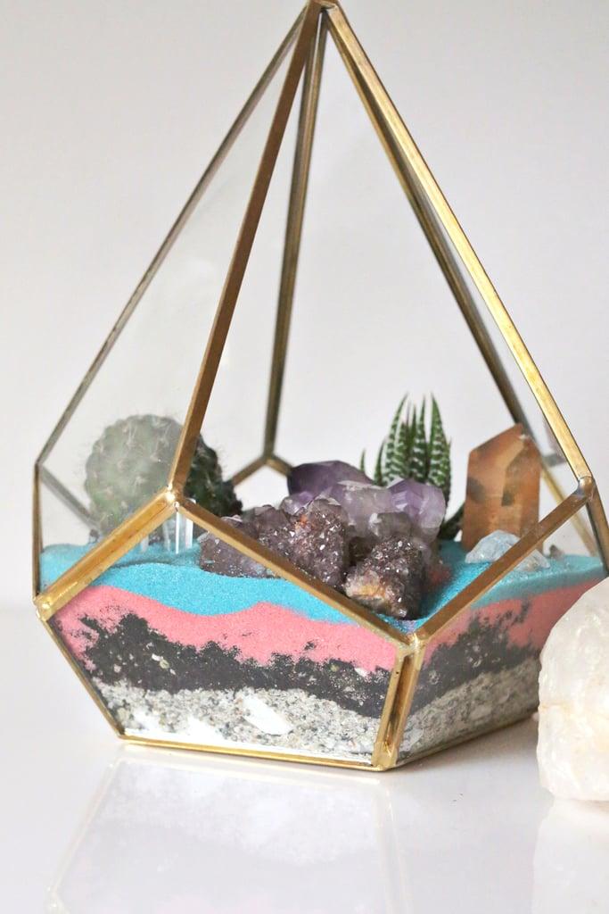 DIY Crystal Cactus Terrarium