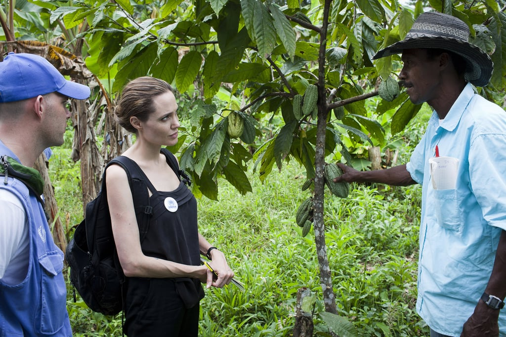 Angelina Jolie went to Ecuador with the UN.
