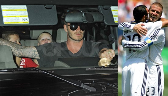 Photos of Victoria Beckham in LA, David Beckham Playing With Galaxy Against Dallas