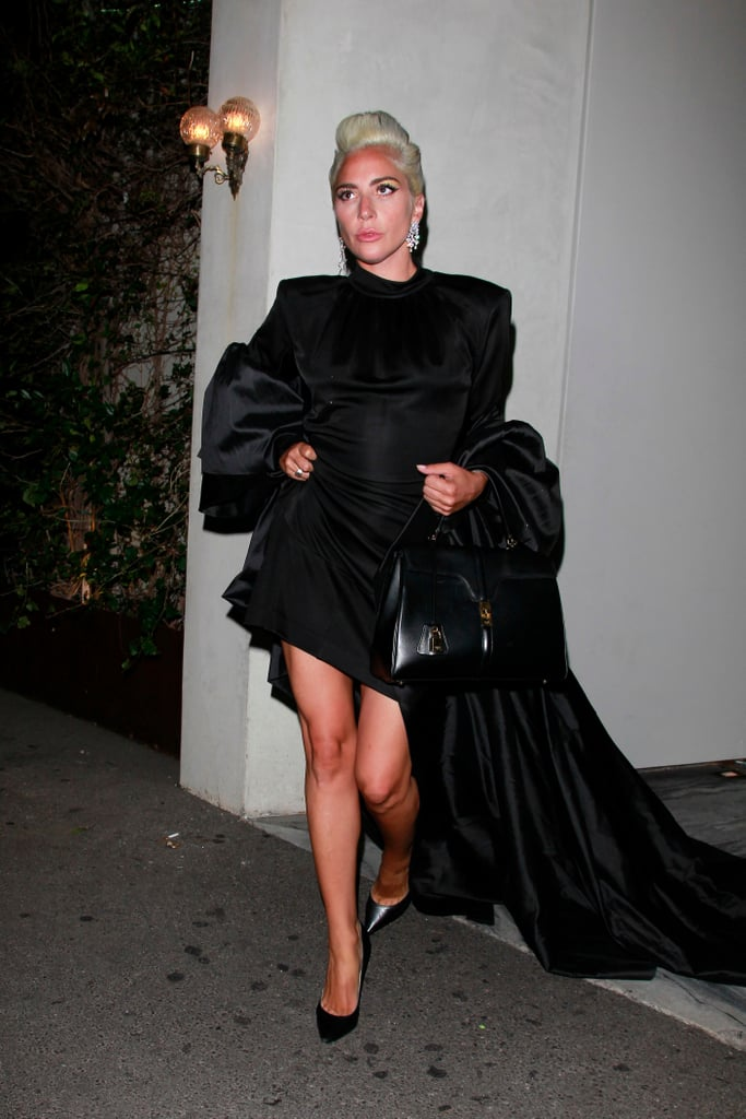 Lady Gaga Wears Black Outfit in Los Angeles March 2019