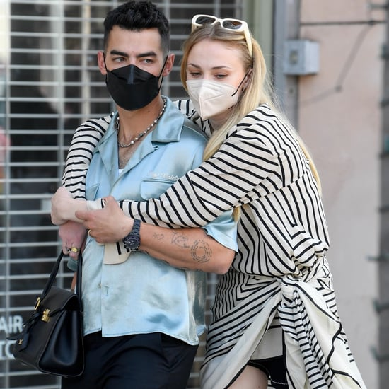 Sophie Turner Wears a Striped Top While Out With Joe Jonas