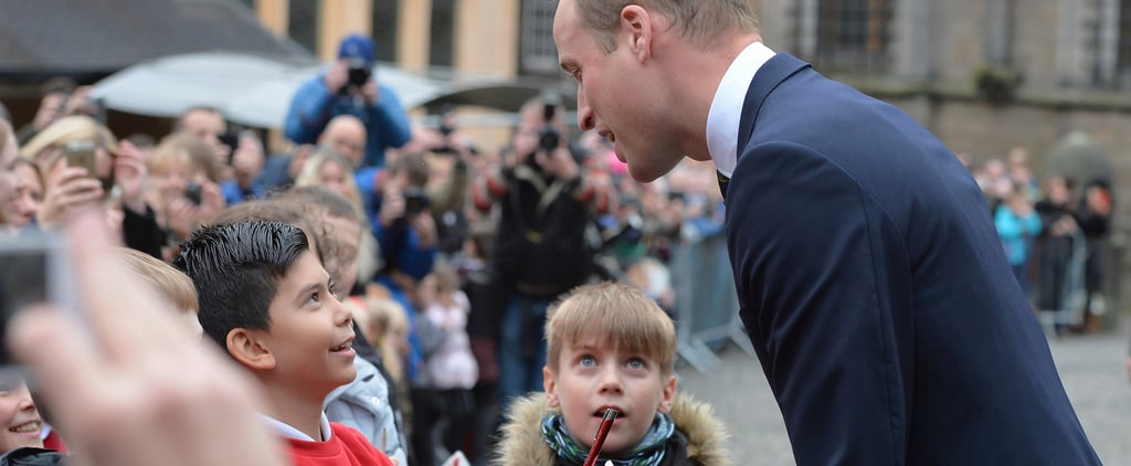 You Need to See These Kids Staring at Prince William Like He's Made Out of the Crown Jewels