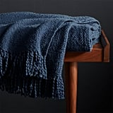 Celeste: Styles Blue Fringe Throw Blanket