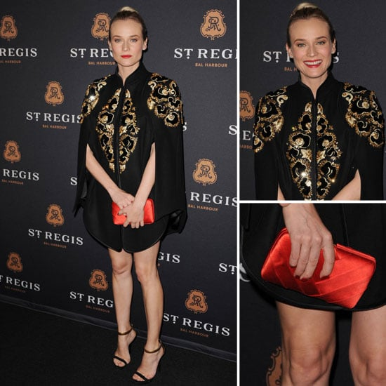Diane Kruger in Jason Wu Cape at St. Regis Bal Harbour Resort