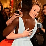 She Hugged Lupita on the Red Carpet