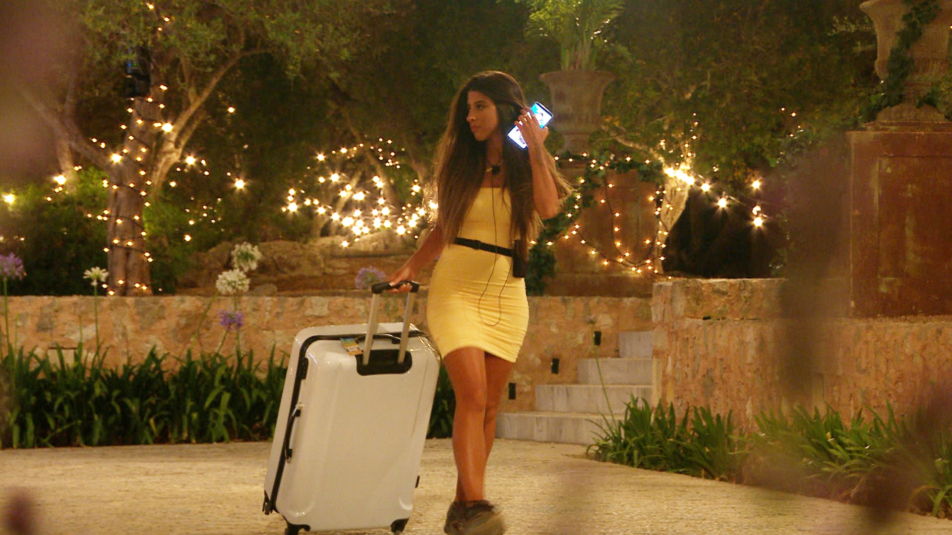 From Lifted EntertainmentLove Island: SR7: Ep3 on ITV2 and ITV Hub new episodes are available the following morning on BritBoxPictured: Shannon leaves the villa.This photograph is (C) ITV Plc and can only be reproduced for editorial purposes directly in connection with the programme or event mentioned above, or ITV plc. Once made available by ITV plc Picture Desk, this photograph can be reproduced once only up until the transmission [TX] date and no reproduction fee will be charged. Any subsequent usage may incur a fee. This photograph must not be manipulated [excluding basic cropping] in a manner which alters the visual appearance of the person photographed deemed detrimental or inappropriate by ITV plc Picture Desk.  This photograph must not be syndicated to any other company, publication or website, or permanently archived, without the express written permission of ITV Picture Desk. Full Terms and conditions are available on the website www.itv.com/presscentre/itvpictures/termsFor further information please contact:james.hilder@itv.com / 0207 157 3052