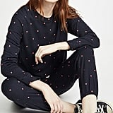 Sundry Polka Dot Sweatshirt and Sweatpants