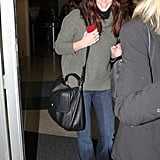 Ashley Greene couldn't stop smiling at the airport.