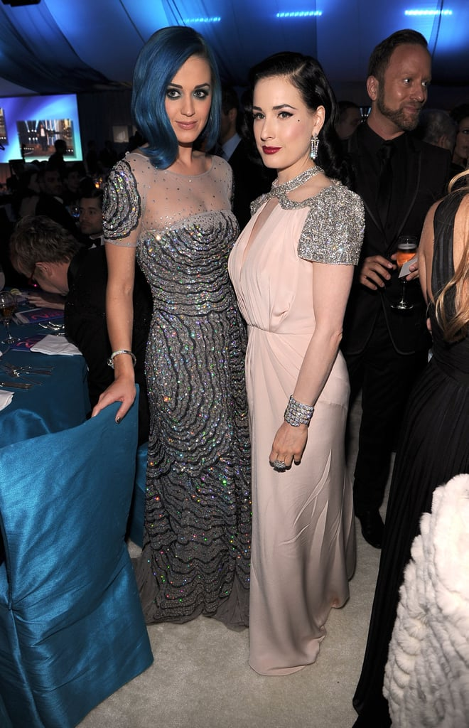 Katy Perry and Dita Von Teese