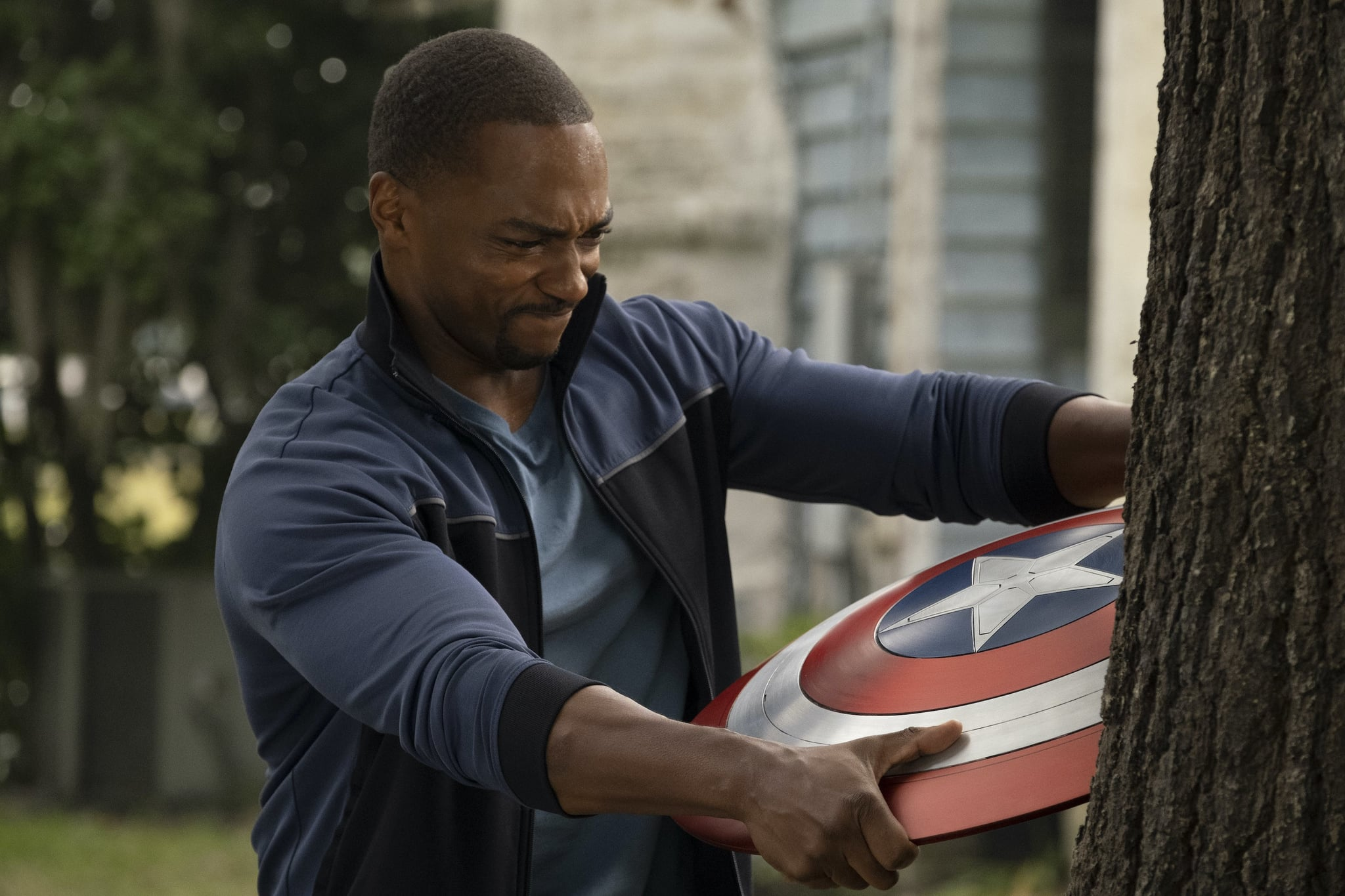THE FALCON AND THE WINTER SOLDIER, Anthony Mackie as Sam Wilson, (Season 1, ep. 101, aired Mar. 19, 2021). photo: Chuck Zlotnick / Disney+/Marvel Studios / Courtesy Everett Collection