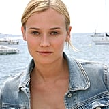 Diane Kruger got some fresh air at the Cannes Film Festival in 2003.
