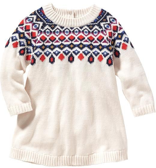 Fair Isle Sweater Dress | Outfits For Baby's First Christmas ...