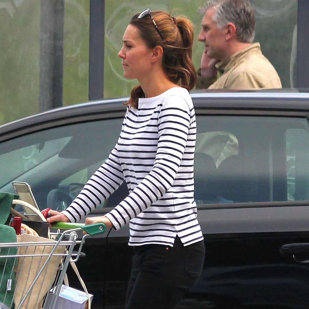 Kate Middleton Wearing Striped T-Shirt